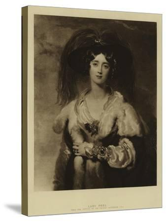 Lady Peel-Thomas Lawrence-Stretched Canvas Print