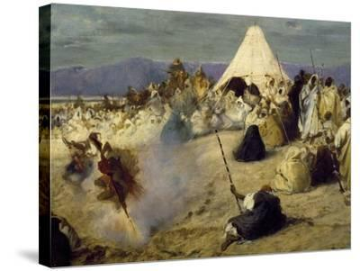 Encampment of Nomadic Bedouins-Stefano Ussi-Stretched Canvas Print