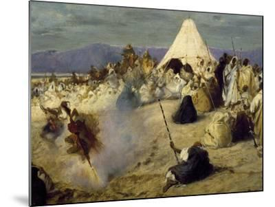 Encampment of Nomadic Bedouins-Stefano Ussi-Mounted Giclee Print