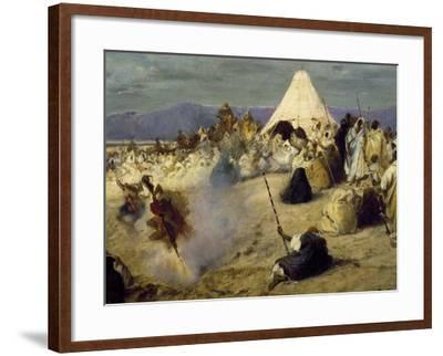 Encampment of Nomadic Bedouins-Stefano Ussi-Framed Giclee Print