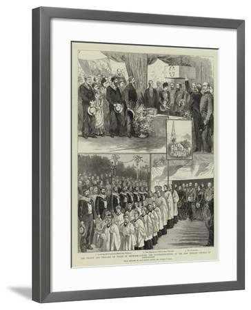 The Prince and Princess of Wales in Denmark-Sydney Prior Hall-Framed Giclee Print
