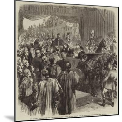 The Queen's Visit to the City, Reception of Her Majesty at the Surrey End of Blackfriars New Bridge-Sir John Gilbert-Mounted Giclee Print