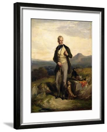 Sir Walter Scott (1771-1832)-Sir William Allan-Framed Giclee Print