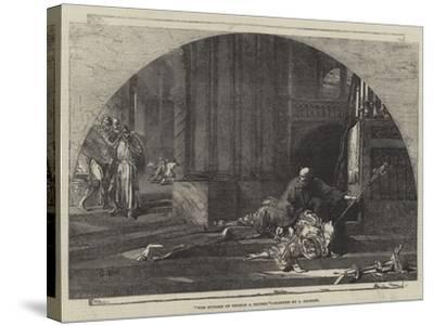 The Murder of Thomas a Becket-Sir John Gilbert-Stretched Canvas Print