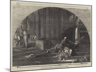 The Murder of Thomas a Becket-Sir John Gilbert-Mounted Giclee Print