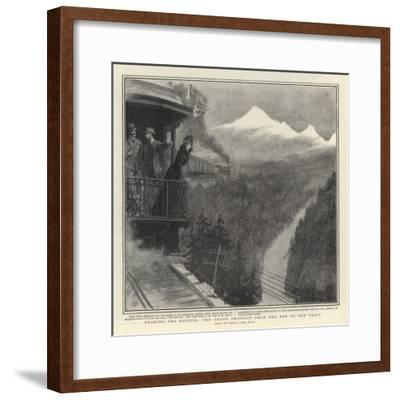 Nearing the Rockies, the Grand Prospect from the End of the Train-Sydney Prior Hall-Framed Giclee Print