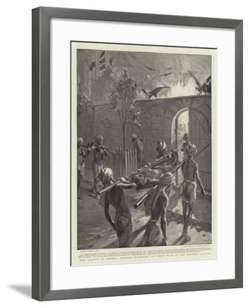 The Plague at Bombay, Hindoos Disposing of their Dead at the Burning Ghauts-Sydney Prior Hall-Framed Giclee Print
