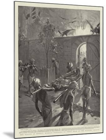 The Plague at Bombay, Hindoos Disposing of their Dead at the Burning Ghauts-Sydney Prior Hall-Mounted Giclee Print