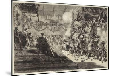 King Henry VIII Keeping Christmas at Greenwich-Sir John Gilbert-Mounted Giclee Print