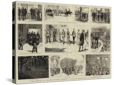 The Coming of Age of Prince Albert Victor, the Festivities at Sandringham-Sydney Prior Hall-Stretched Canvas Print