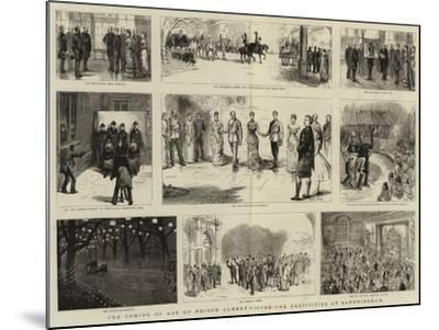 The Coming of Age of Prince Albert Victor, the Festivities at Sandringham-Sydney Prior Hall-Mounted Giclee Print