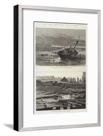 The Late Destructive Gale of Wind-Sir John Gilbert-Framed Giclee Print