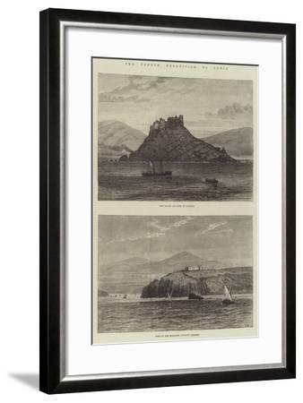 The French Expedition to Tunis-Sir John Gilbert-Framed Giclee Print