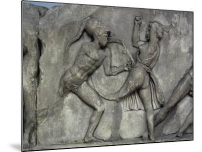 Mausoleum at Halicarnassus, Combat with the Amazons- Skopas of Paros-Mounted Giclee Print