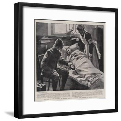The Care of the Wounded, Sir William Maccormac Visiting the Hospital at Pietermaritzburg-Sydney Prior Hall-Framed Giclee Print