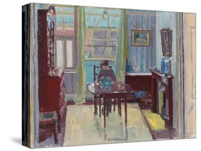 Interior of Room at 6 Cambrian Road, Richmond, 1914-Spencer Frederick Gore-Stretched Canvas Print
