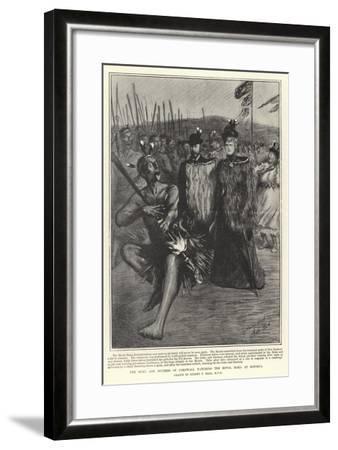 The Duke and Duchess of Cornwall Watching the Royal Haka at Rotorua-Sydney Prior Hall-Framed Giclee Print