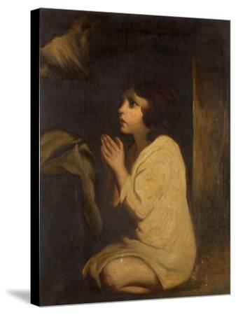 The Infant Samuel-Sir Joshua Reynolds-Stretched Canvas Print
