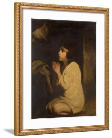 The Infant Samuel-Sir Joshua Reynolds-Framed Giclee Print
