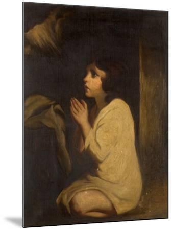 The Infant Samuel-Sir Joshua Reynolds-Mounted Giclee Print