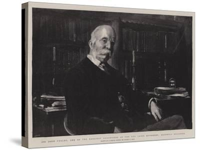 Sir John Furley, One of the Earliest Organisers of the Red Cross Movement, Recently Knighted-Sydney Prior Hall-Stretched Canvas Print