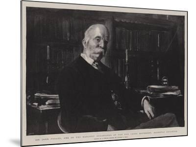 Sir John Furley, One of the Earliest Organisers of the Red Cross Movement, Recently Knighted-Sydney Prior Hall-Mounted Giclee Print