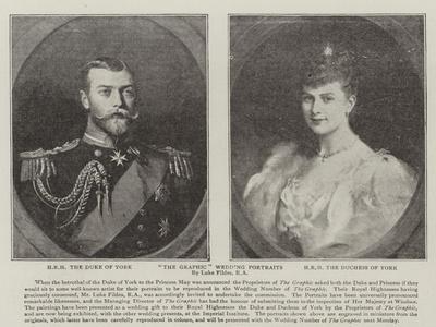The Graphic Wedding Portraits-Sir Samuel Luke Fildes-Framed Giclee Print