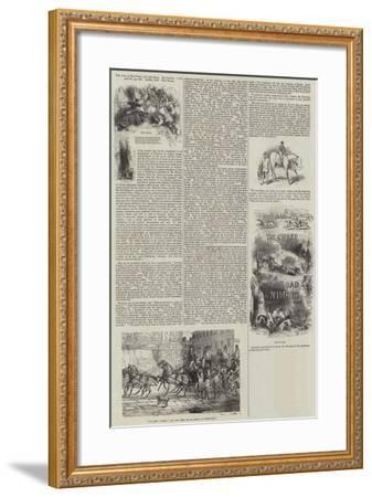 The Chase, the Turf and the Road, by Nimrod-Sir John Gilbert-Framed Giclee Print
