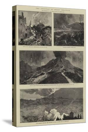 The Eruption of Mount Vesuvius-Sydney Prior Hall-Stretched Canvas Print