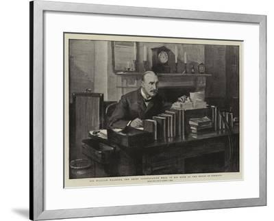 Sir William Walrond, the Chief Conservative Whip, in His Room at the House of Commons-Sydney Prior Hall-Framed Giclee Print
