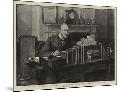 Sir William Walrond, the Chief Conservative Whip, in His Room at the House of Commons-Sydney Prior Hall-Mounted Giclee Print