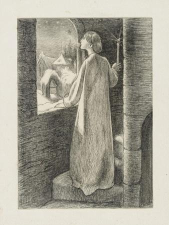 St Agnes Eve-John Everett Millais-Framed Giclee Print