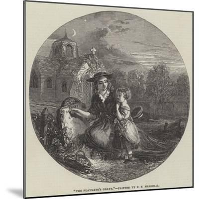 The Playmate's Grave-Thomas Falcon Marshall-Mounted Giclee Print