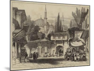 A Street in Constantinople, with the Fountain and Mosque of Sultan Achmet-Thomas Allom-Mounted Giclee Print