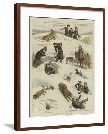 St Bernard to the Rescue-Sydney Prior Hall-Framed Giclee Print