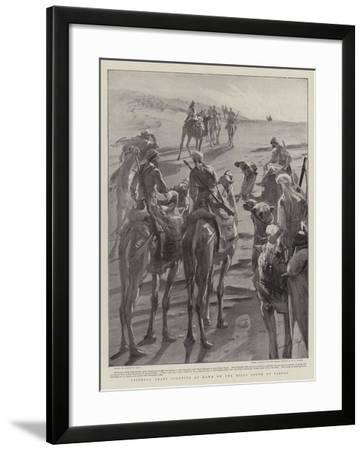 Friendly Arabs Scouting at Dawn on the Hills South of Sarras-Sydney Prior Hall-Framed Giclee Print