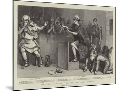 The Wasps of Aristophanes at King's College-Sydney Prior Hall-Mounted Giclee Print