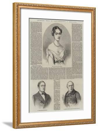 Important Trial in Paris, Bonaparte V Bonaparte-Thomas Harrington Wilson-Framed Giclee Print