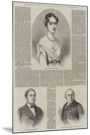 Important Trial in Paris, Bonaparte V Bonaparte-Thomas Harrington Wilson-Mounted Giclee Print