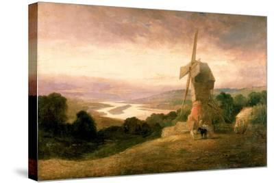 The Tyne from Windmill Hills, Gateshead, C.1818-Thomas Miles Richardson-Stretched Canvas Print