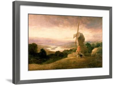 The Tyne from Windmill Hills, Gateshead, C.1818-Thomas Miles Richardson-Framed Giclee Print