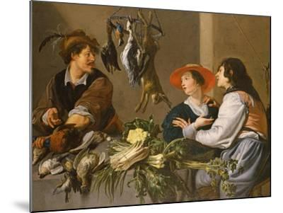 Game and Vegetable Sellers-Theodor Rombouts-Mounted Giclee Print