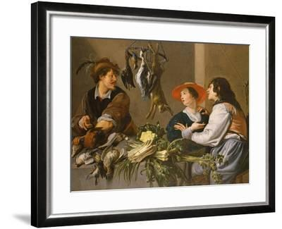 Game and Vegetable Sellers-Theodor Rombouts-Framed Giclee Print