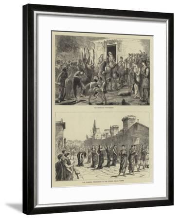 The Fetes at Pompeii-Sydney Prior Hall-Framed Giclee Print