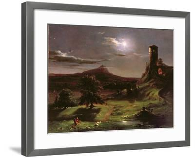 Landscape (Moonlight), C.1833-34-Thomas Cole-Framed Giclee Print