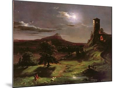 Landscape (Moonlight), C.1833-34-Thomas Cole-Mounted Giclee Print