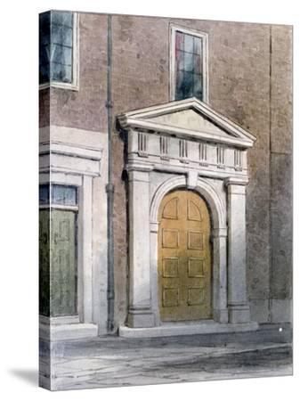 The Entrance to Masons' Hall, 1854-Thomas Hosmer Shepherd-Stretched Canvas Print