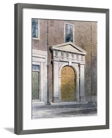 The Entrance to Masons' Hall, 1854-Thomas Hosmer Shepherd-Framed Giclee Print