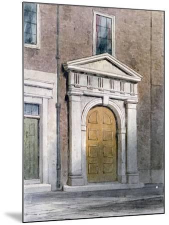 The Entrance to Masons' Hall, 1854-Thomas Hosmer Shepherd-Mounted Giclee Print