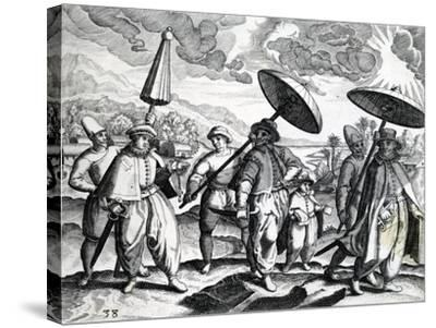 A Group of People from 'India Orientalis', 1598-Theodore de Bry-Stretched Canvas Print